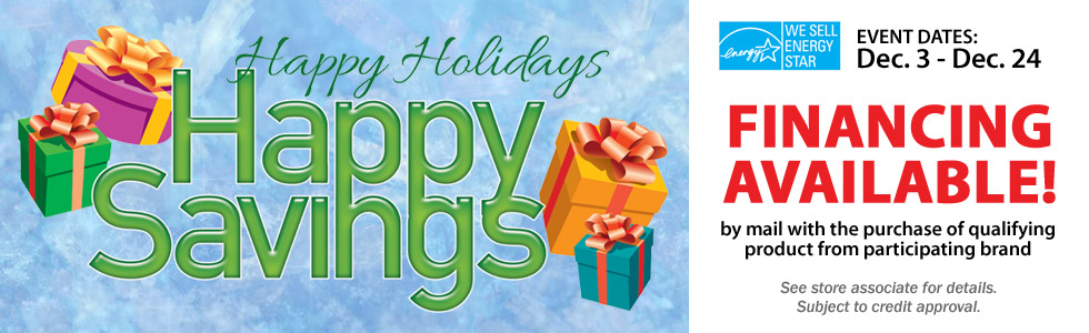 HAPPY HOLIDAYS HAPPY SAVINGS DEC 3 - 24